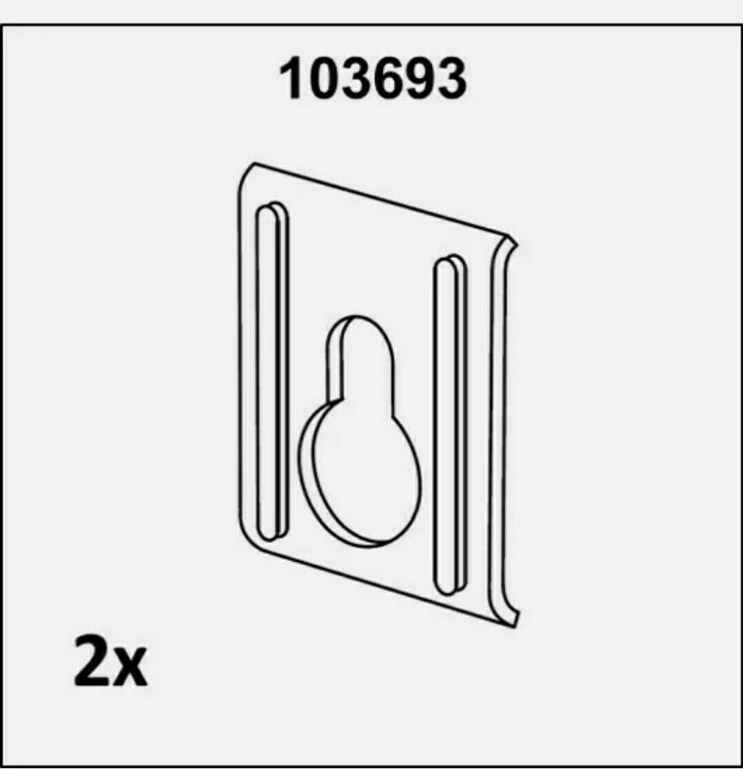 ° 4 Ikea Ersatzteil Pax Method Abdeckkappen f Wandbefestigung Winkel weiß neu °