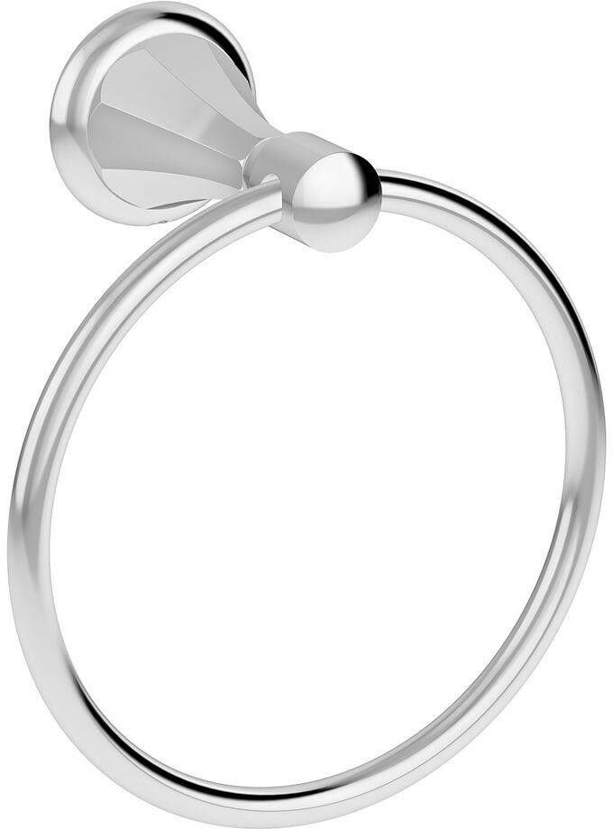 Hand Towel Holder Ring Brass Wall Mount Coastal Transitional Style Chrome Finish