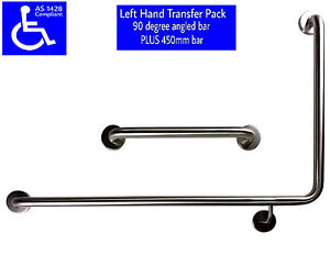 90-DEGREE-SAFETY-RAIL-LH-AS1428-450mm-GRAB-BAR-DISABLED-TOILET-STAINLESS-STEEL
