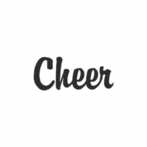 Vinyl Decal Sticker Multiple Color /& Sizes ebn1592 Cheer