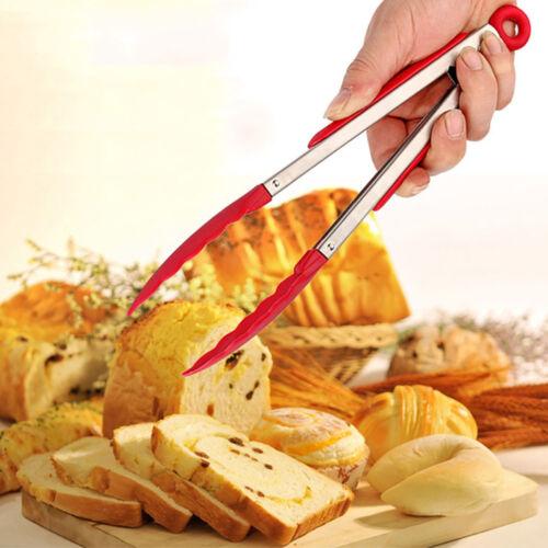 2X BBQ Fleischzange Grillzange Küchenzange Bäckerei Zange Pizza Servierzange
