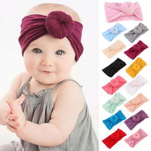 Soft-Baby-Girls-Kids-Toddler-Bow-Hairband-Headband-Turban-Big-Knot-Head-Wrap-New