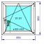 miniature 21 - Finestre in PVC con 2 lastre di vetro termico larghezza: 850 mm scelta l'altezza