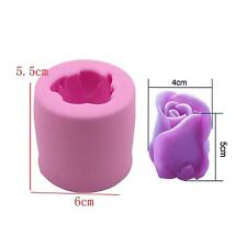 Silicone 3D Rose Flower Shape Mold Handmade Craft Soap Candle Making DIY Mould