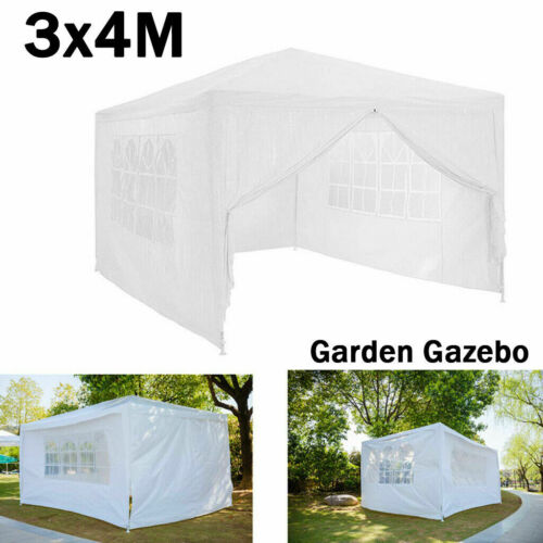 Gazebo Marquee Outdoor Party Tent With Sides Waterproof Garden Patio Canopy 3x4m