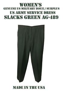 US Army Women/'s Class A B Dress Green Uniform Slacks Pants Trousers