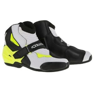 NEW-Motorcycle-Alpinestars-SMX-1R-Vented-White-Black-Yellow-Performance-Riding-R