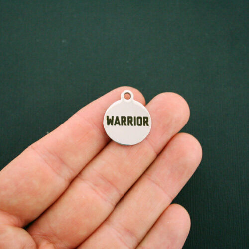 Quantity Options Exclusive Line BFS406 Warrior Stainless Steel Charms