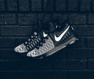 hot sale online c1ae1 97be3 Image is loading Nike-Zoom-KD-9-Mic-Drop-Oreo-Black-