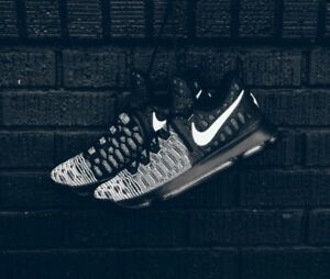 hot sale online 3f0e4 e3c09 Image is loading Nike-Zoom-KD-9-Mic-Drop-Oreo-Black-