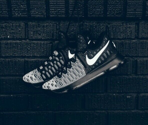 new products 2807d 5f013 Mens Nike Zoom KD 9 Black and White 843392 010 for sale online   eBay