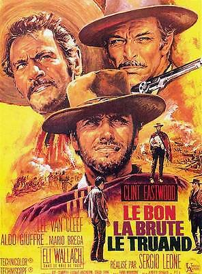 THE GOOD, THE BAD, THE UGLY - Canvas Print Movie Poster.