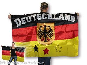 umhang deutschland flagge fahne wm 2018 russland bundesadler schwarz rot gold ebay. Black Bedroom Furniture Sets. Home Design Ideas