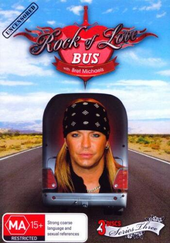 1 of 1 - Rock Of Love With Bret Michaels : Season 3 (DVD, 2010, 3-Disc Set) R0, SEALED