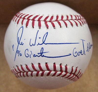 Faithful Desi Wilson San Francisco Giants Autographed Signed Major League Baseball W/coa Baseball-mlb
