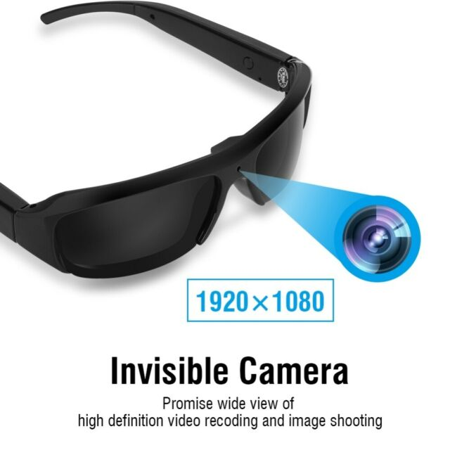 Mini HD Spy Camera Glasses Sunglasses 1080P Recorder Eyewear Camcorder TF DV DVR