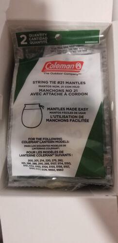 Marca Nueva 100 Linterna Coleman Mantos #21 String Tie 50 paquetes de 2 Caja Completa