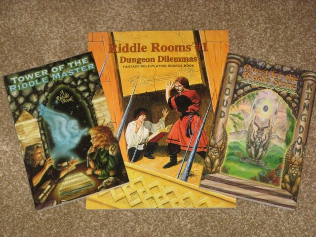 Riddle Rooms #1+Riddle Stone+Tower of Riddle Master NEW rpg sourcebooks D&D AD&D
