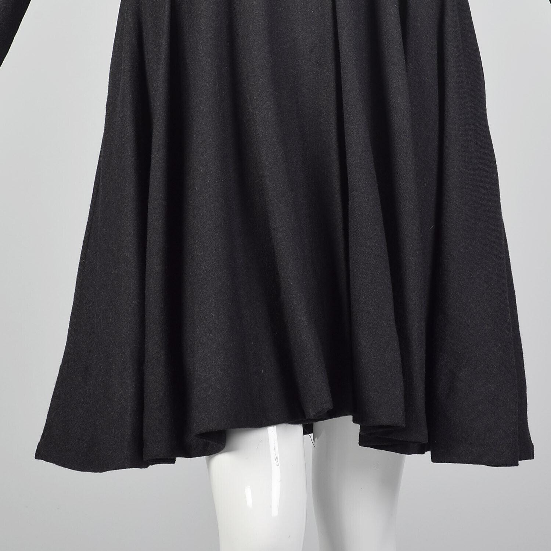 Medium Gary Graham 2000s Wool Princess Coat Charc… - image 6