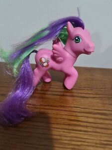 my little pony g3 Coconut Grove Pink Pegasus MLP Magnetic Foot Purple Green hair