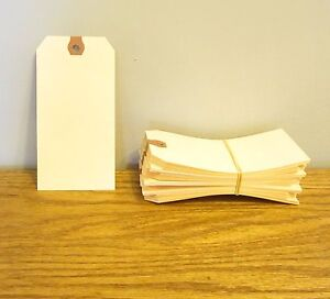 """100 AVERY DENNISON PRE STRUNG  #1 BLANK SHIPPING TAGS 2 3//4/"""" BY 1 3//8/"""" SCRAPBOOK"""