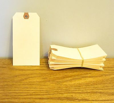 """200 AVERY DENNISON MANILLA #3 BLANK SHIPPING TAGS 3 3//4/"""" BY 1 7//8/"""" SCRAPBOOK"""