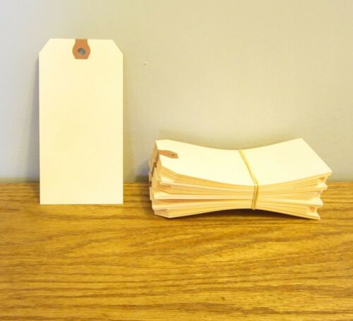 """200 AVERY DENNISON MANILLA #6 BLANK SHIPPING TAGS 5 1//4/"""" BY 2 5//8/"""" SCRAPBOOK"""