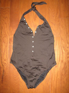 45e7187cccea4 Details about S Victoria's Secret Push Up ONE-PIECE Swim Swimwear LINED  BROWN