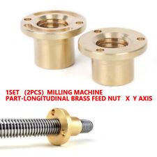 Milling Machine Tools X Axis Part Longitudinal Brass Feed Nut Set High Quality