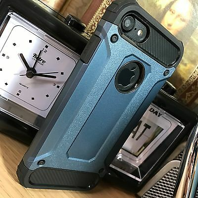 Realistisch Apple Iphone 8 Case Rugged Reinforced Shell Metal Blue Grey Free Shipping Uec