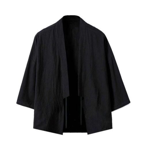 hommes en vrac kimono veste noragi Cardigan japonais UKIYOE imprimé Harajuku