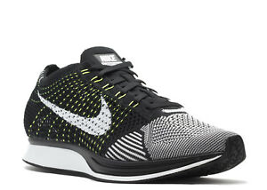 Nike Flyknit Racer Men s Oreo Volt Black White Orca Shoes 526628-011 ... 35bdb6bc0