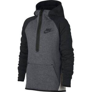 Image is loading Nike-Tech-Fleece-Kids-Half-Zip-Hoodie-938344- 9ffbffc5d498