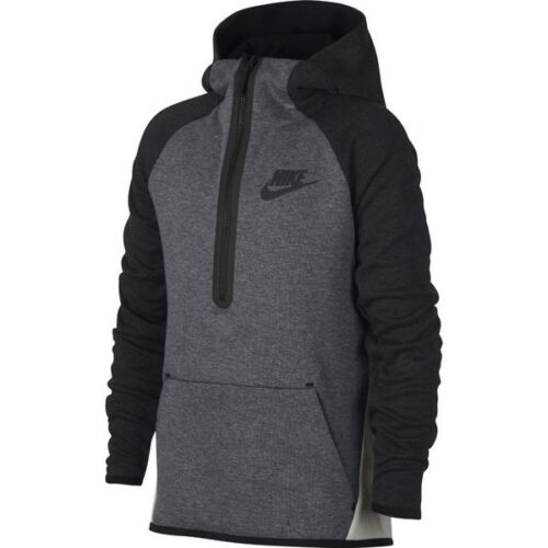 Nike Tech Fleece Kids Half Zip Hoodie 938344 092 Grey