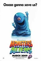 Monsters Vs Aliens - Original Double Sided Movie Poster - D/s 27x40 Advance