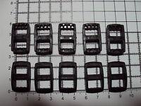"10 x Black Plastic 3 Bar Slides Tri Glide Fasteners Clip Buckles 10mm  ""R"""