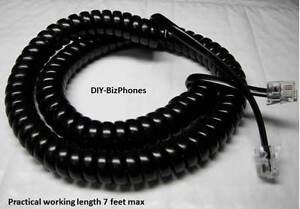 Pack/Lot of 10 Black 12ft Handset Cord Nortel Phone Norstar M7208 M7310 M-Series