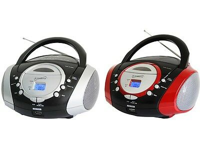 SUPERSONIC SC-508 Portable Audio CD/MP3 Player with USB/AUX Inputs & AM/FM Radio