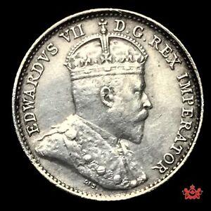 1909-Canada-5-Cents-Bow-Tie-AU-Lot-696
