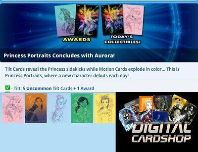 PRINCESS INK SERIES 2 AURORA AWARDS+MOTION+B/&W SET-14 CARDS-TOPPS DISNEY COLLECT