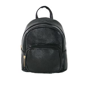 design di qualità e45fc b58d0 Zaino Donna Piccolo Pelle Nero Comodo Mini Elegante Moda ...
