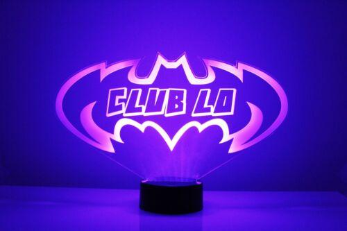 Superhero LED Night Light Lamp Desk Lamp Batman Night Light Personalized FREE