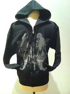 GALLOWS Zip-Up Black Sweatshirt Hoodie NEW OFFICIAL MERCHANDISE Size Small