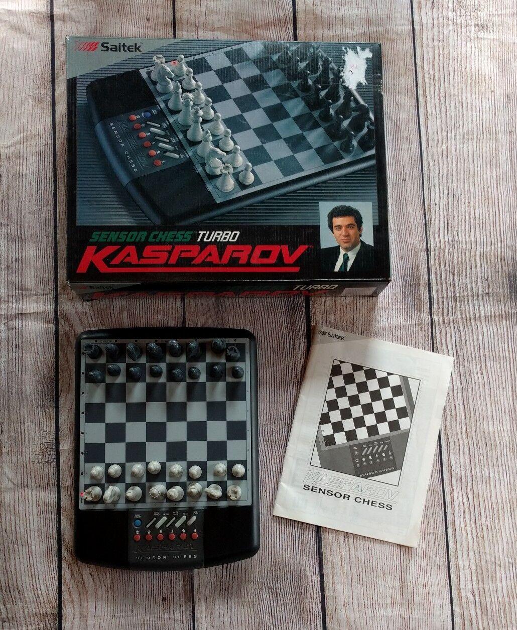 Vintage  Kasparov Sensor Electronic Chess Turbo Saitek Original scatola uomoual TESTED  comprare sconti