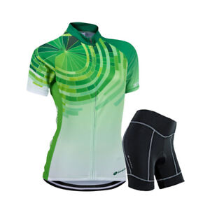 Image is loading Women-Sports-Cycling-Jersey-Bike-Short-Sleeve-Clothing- 2be0703ff