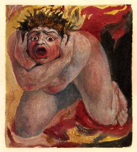 Jacobs Ladder Vintage Fine Art Print William Blake