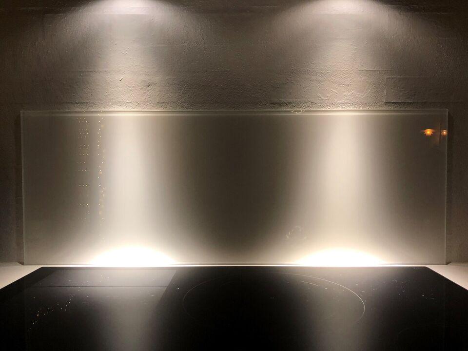 Andet, andet mærke HTH stænkpanel hvid hærdet glas, b: 90 d: