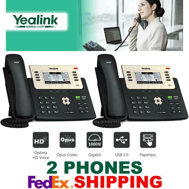 Yealink SIP-T27G Executive Gigabit SIP VoIP IP Phone PoE 6 Line HD Opus T27G