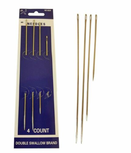 4 Pcs Big Eye Hand Sewing Needles Wool Thick Knitter Yarn Quality Strong Needle