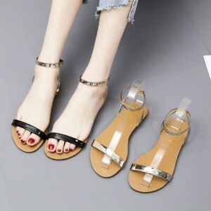 Ladies-Womens-Summer-Open-Toe-Sandals-Students-Roman-Shoes-Casual-Beach-Sandals